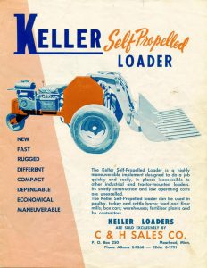 The First Skid-Steer | Keller Self Propelled Loader advertisement