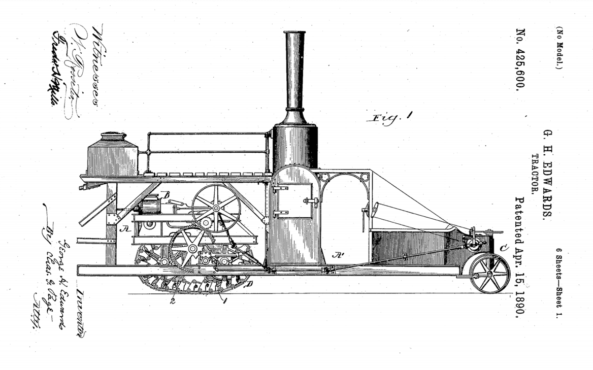 "first known recorded uses of the term ""tractor"""